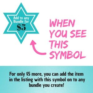 Other - Add on items for only $5 when you bundle! See how